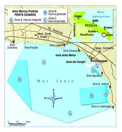 Porto Cesareo Puglia Cartina.Parchi Per Tutti It Immagini Fotografiche Cartina Del Porto Cesareo
