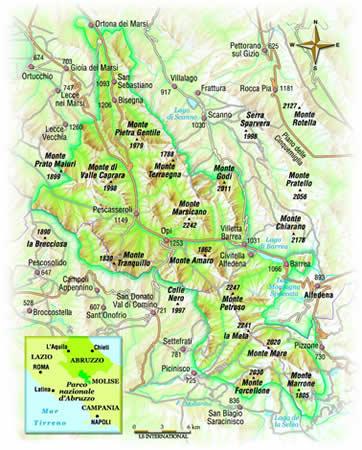 Cartina Abruzzo E Lazio.Parchi Per Tutti It Immagini Fotografiche Cartina Del