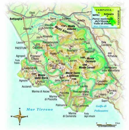 Cartina Stradale Cilento.Parchi Per Tutti It Immagini Fotografiche Cartina Del Parco Nazionale Del Cilento E Vallo Di Diano
